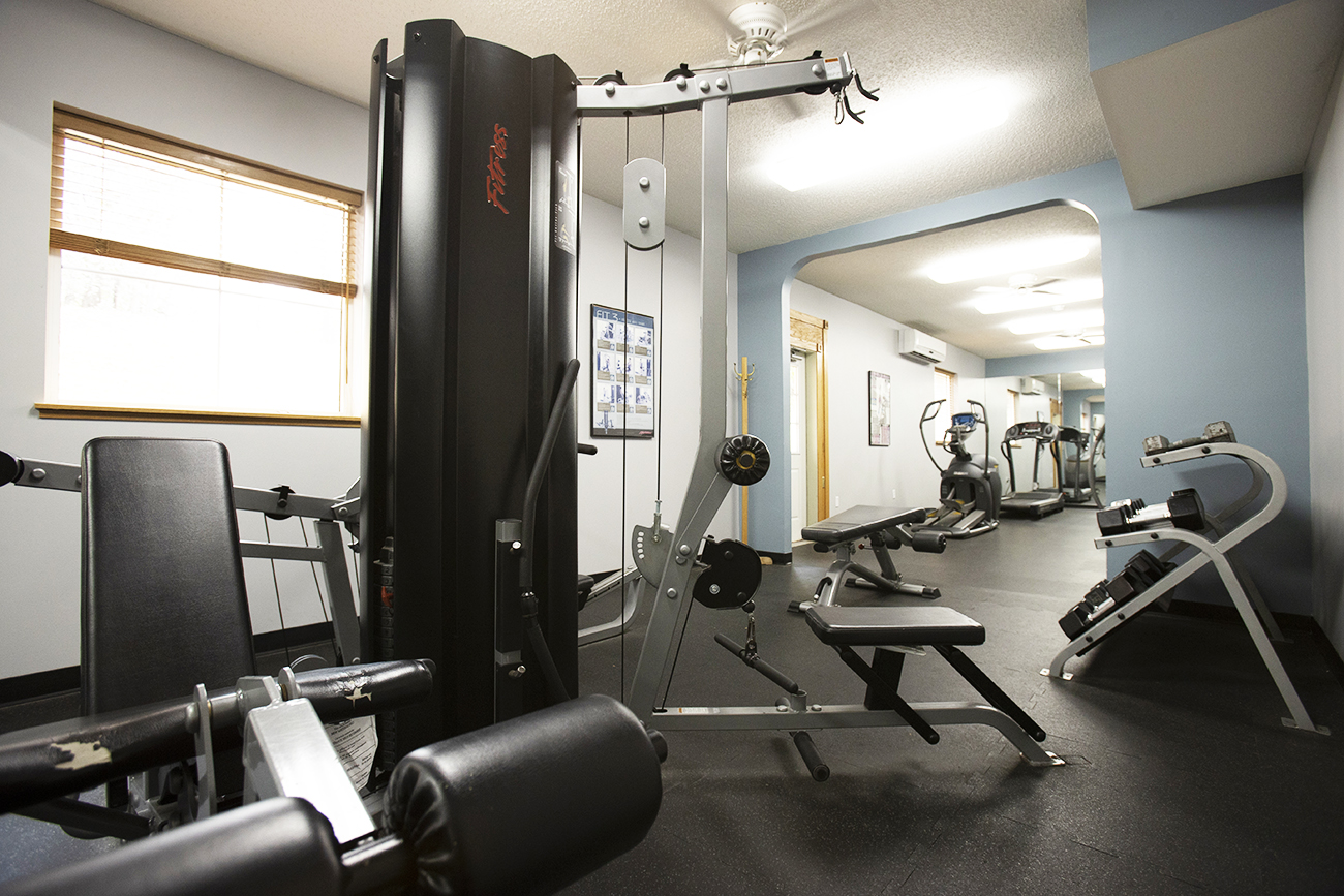 24-hour fitness center: Cable and free weights
