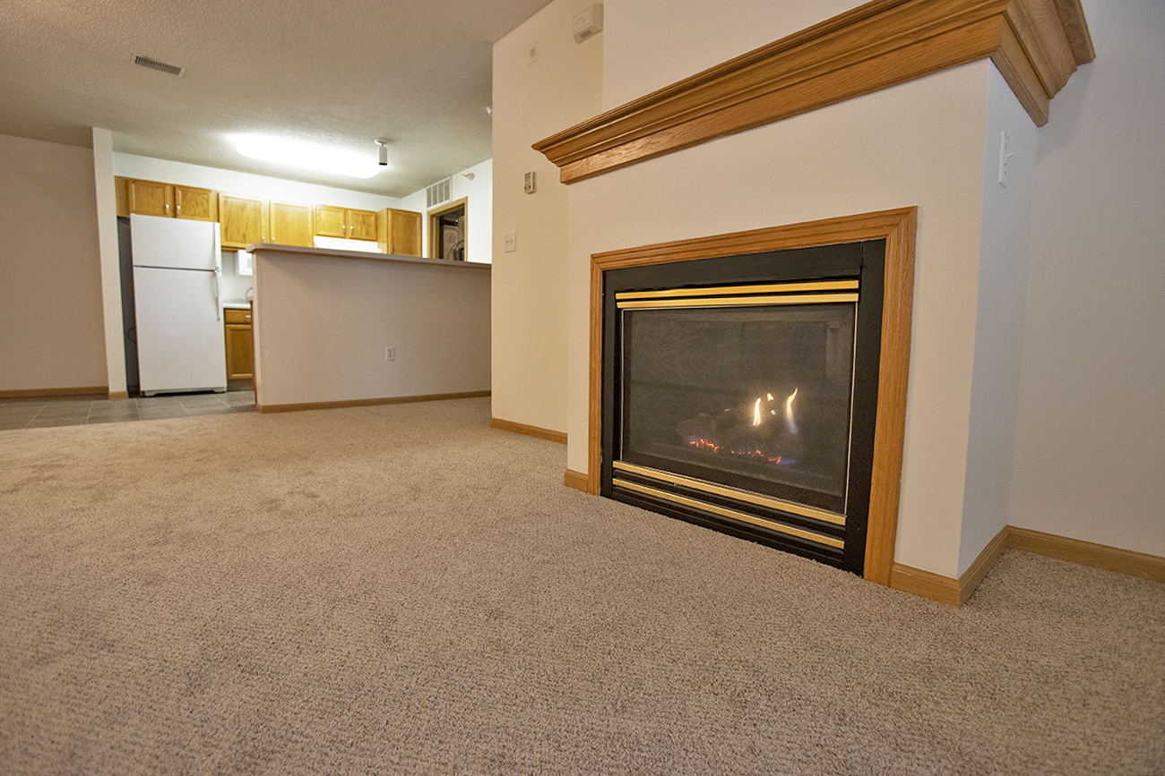 The Aspen (1 Bedroom): Fireplaces in select homes