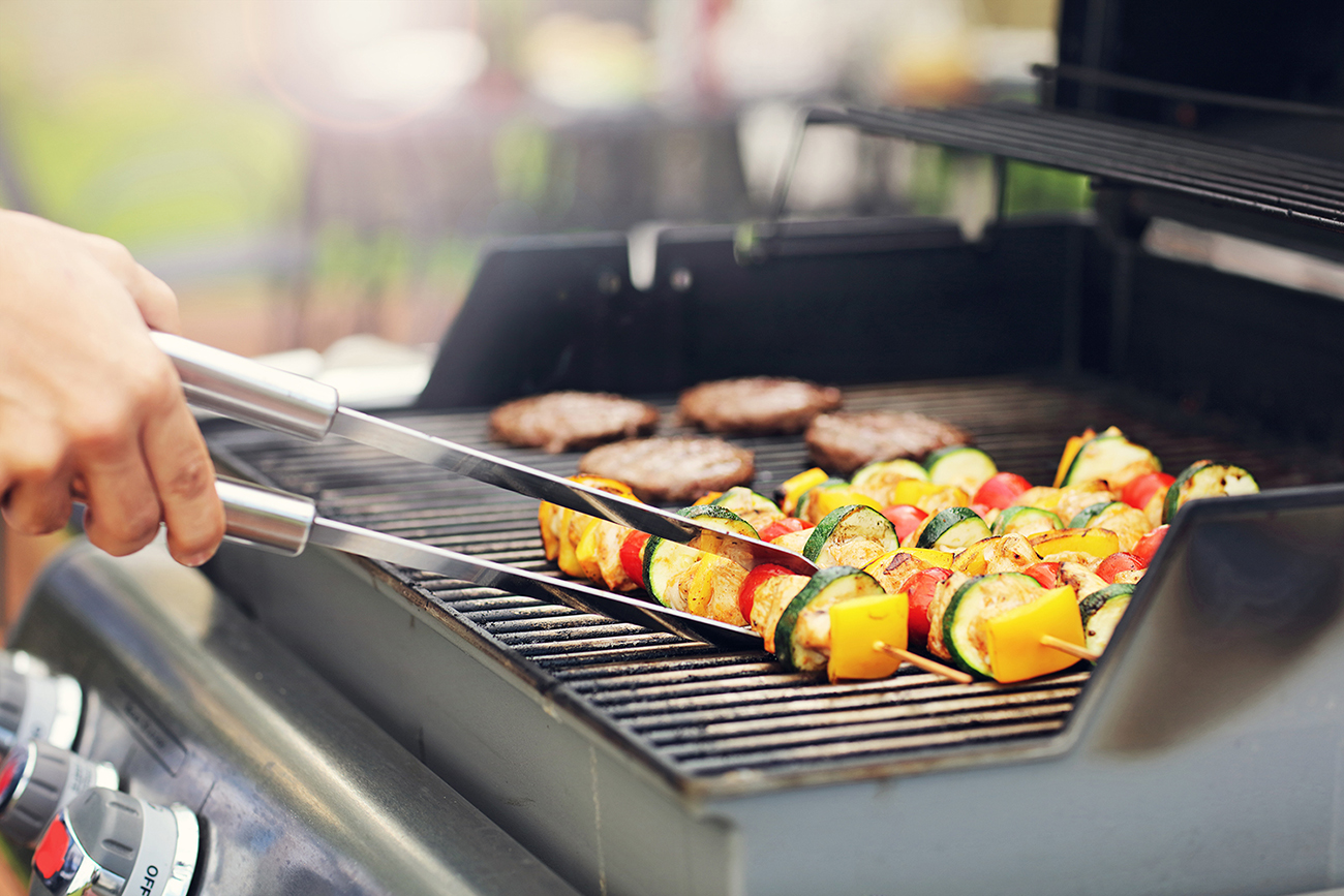 Several community BBQ areas