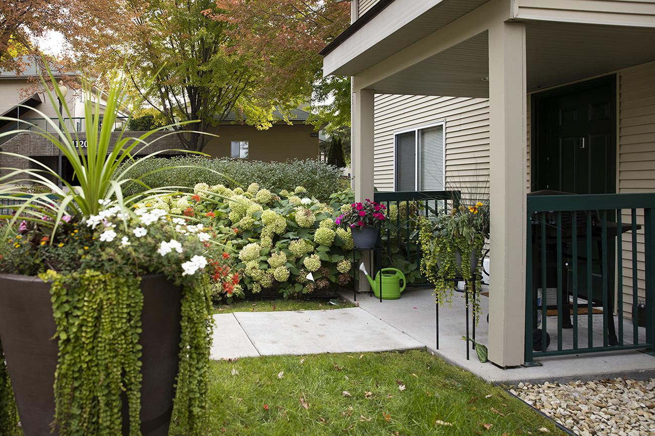 Direct entry through spacious patio