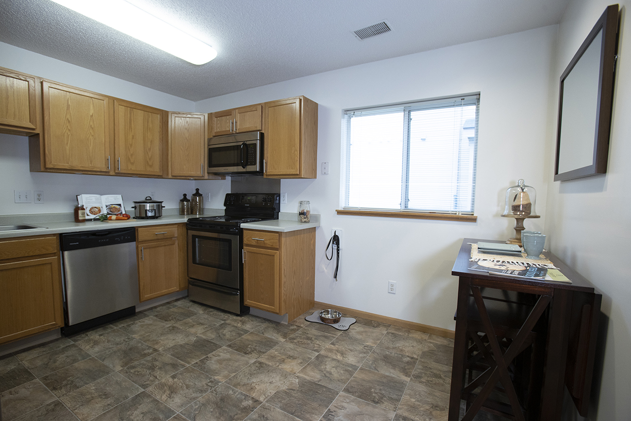 The Birch (2 bedroom): Bright, airy kitchen with natural light