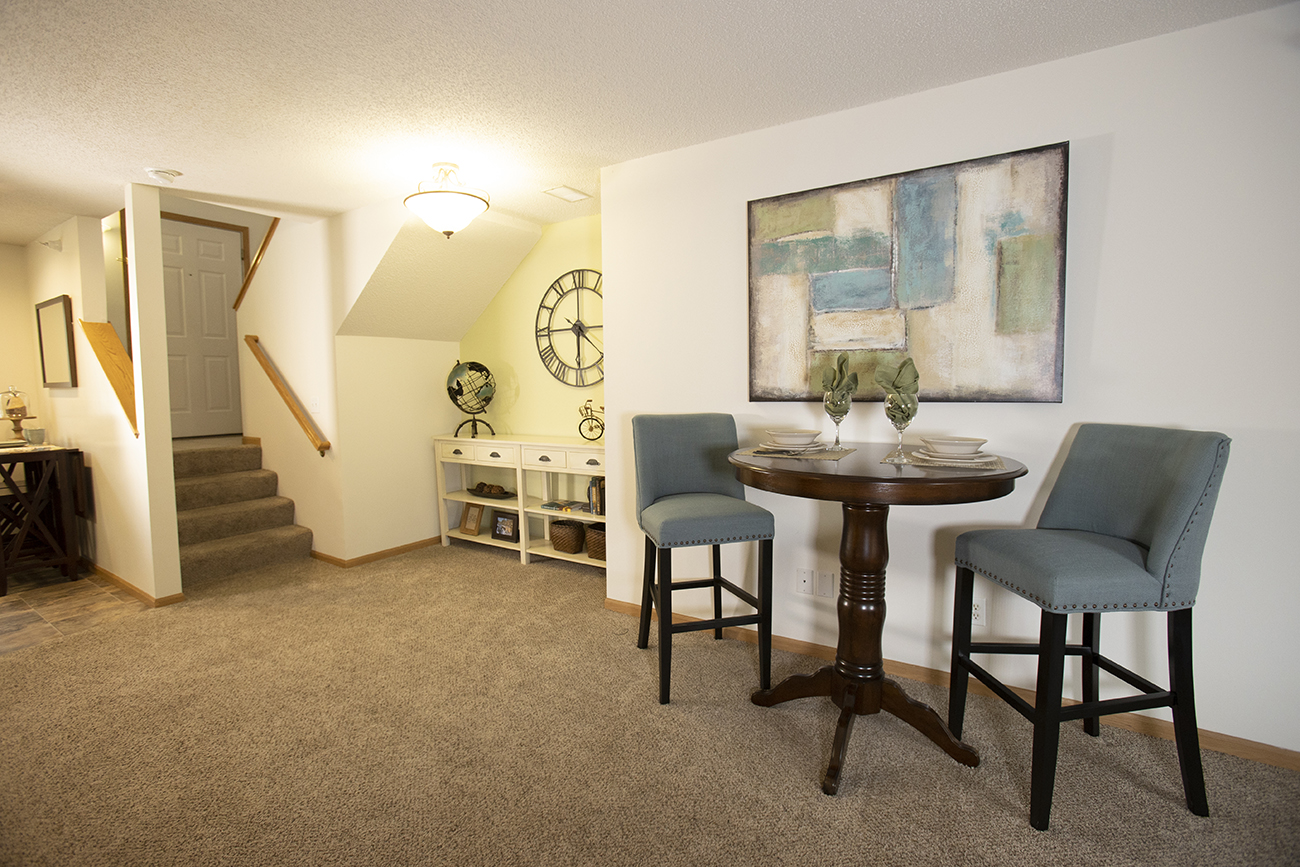 The Birch (2 bedroom): Nook perfect for dining, décor, or home office space