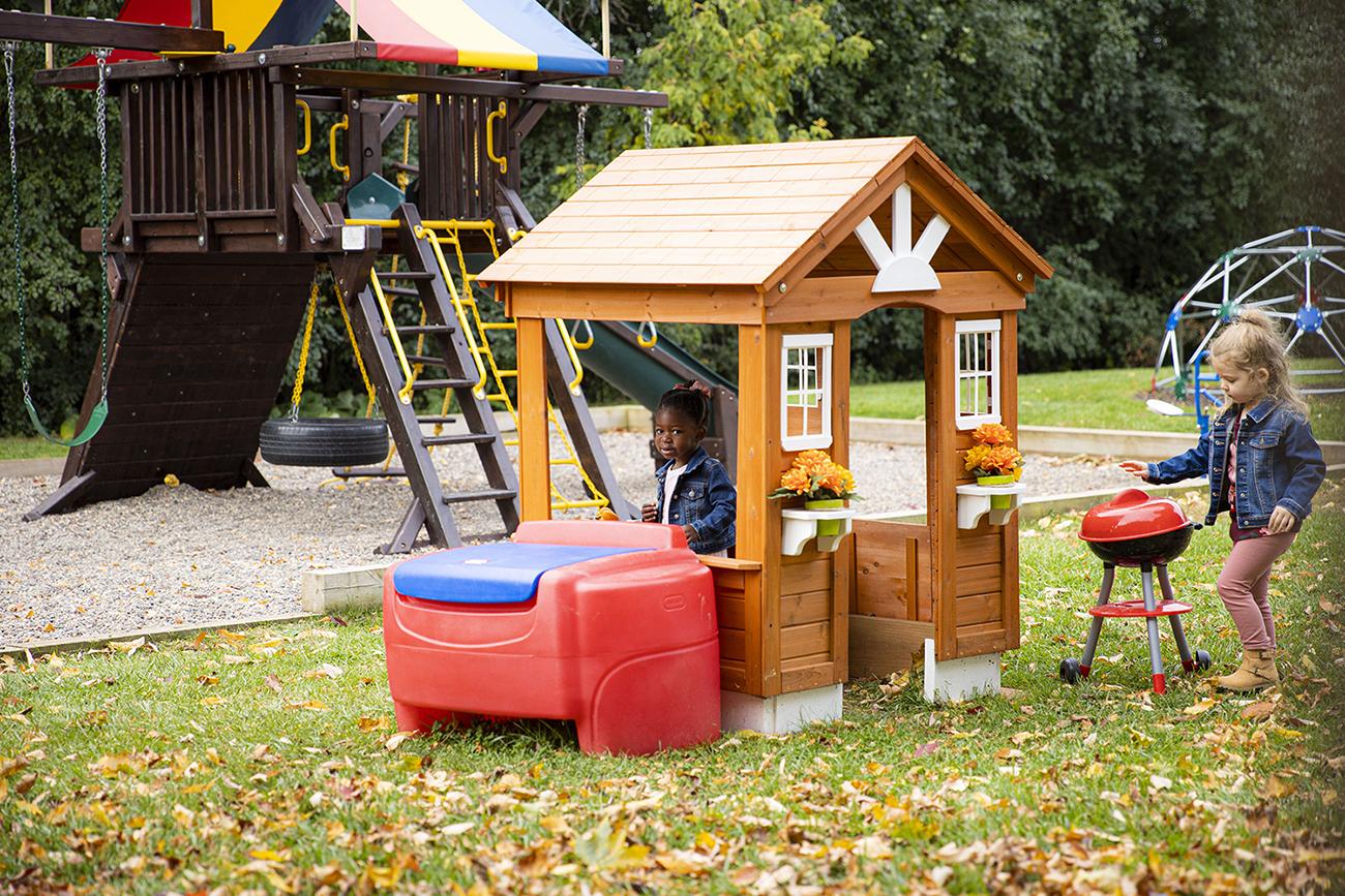 Park features plenty of kids play equipment